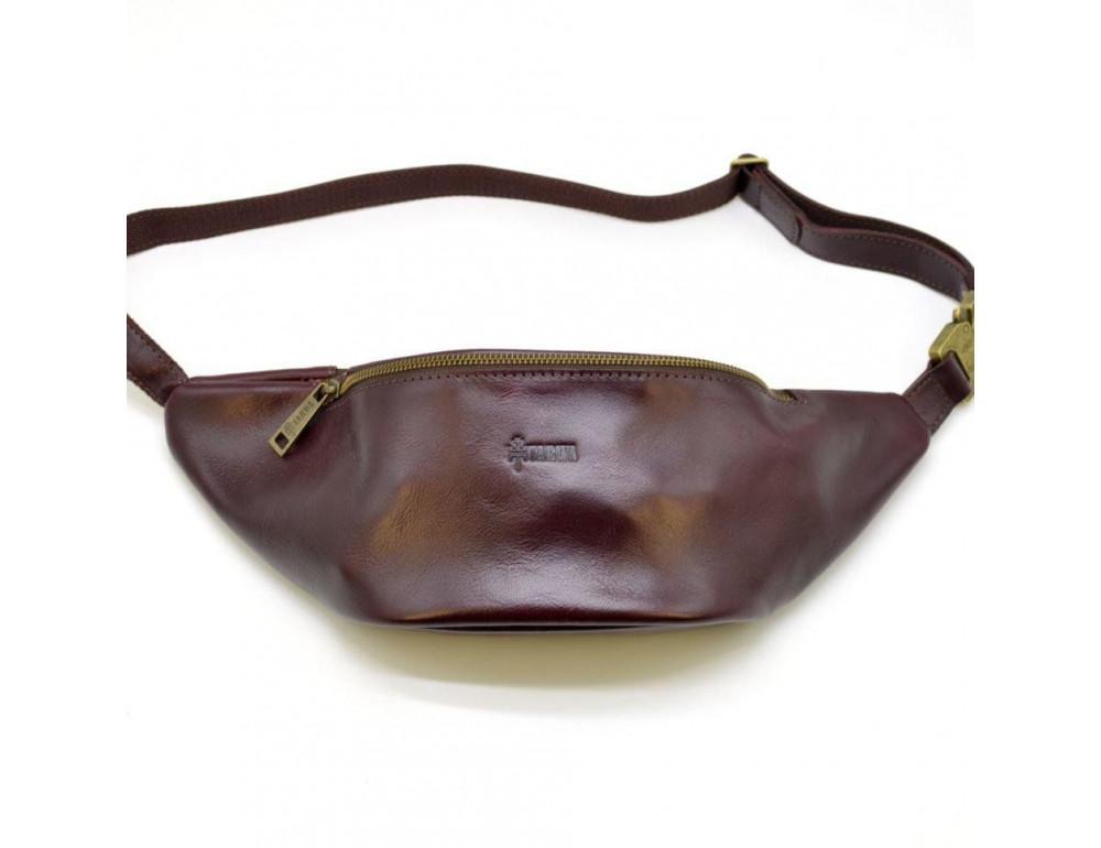 Женская напоясная сумка из телячьей кожи TARWA GM-3036-4lx - Фото № 2