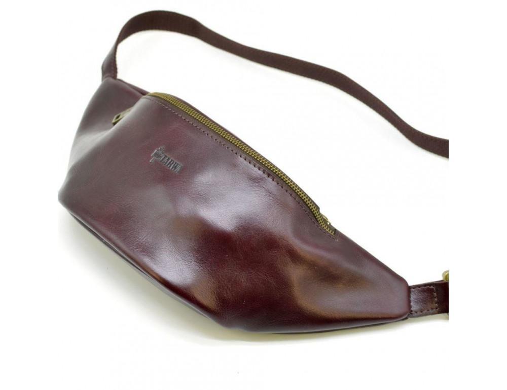 Женская напоясная сумка из телячьей кожи TARWA GM-3036-4lx - Фото № 1