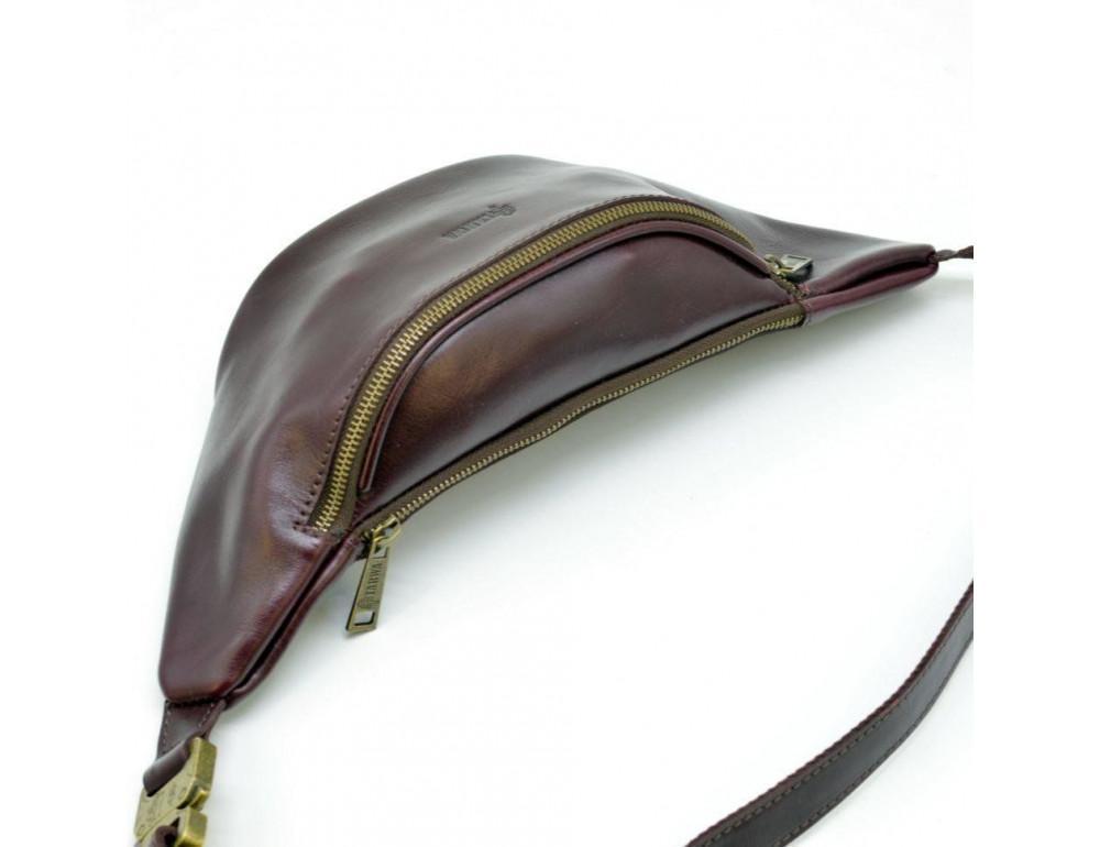 Женская напоясная сумка из телячьей кожи TARWA GM-3036-4lx - Фото № 4