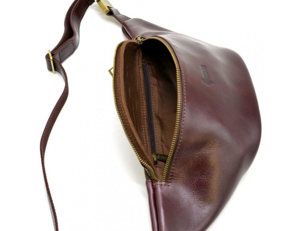 Женская напоясная сумка из телячьей кожи TARWA GM-3036-4lx - Фото № 5