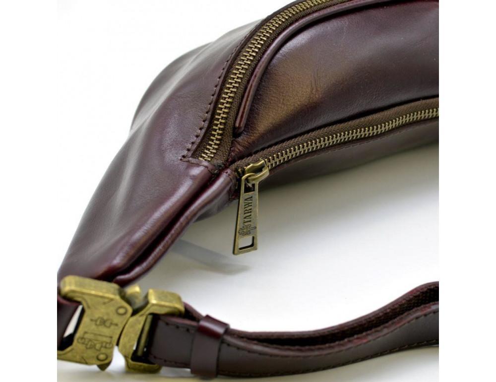 Женская напоясная сумка из телячьей кожи TARWA GM-3036-4lx - Фото № 6