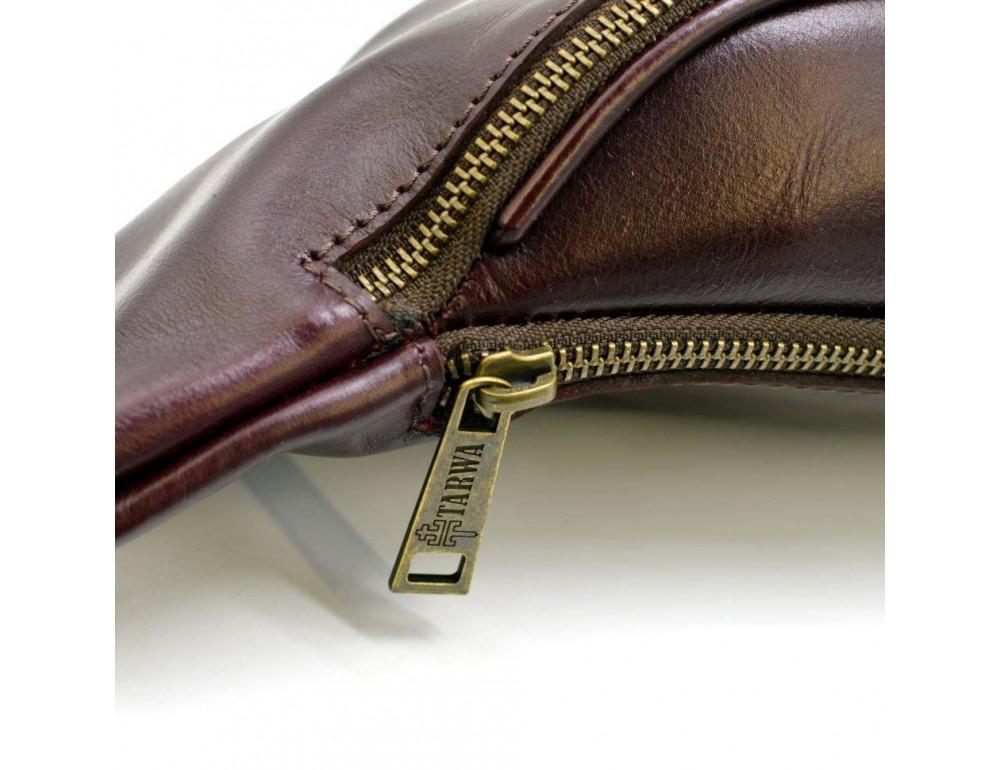 Женская напоясная сумка из телячьей кожи TARWA GM-3036-4lx - Фото № 7