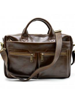 Коричневая кожаная сумка для ноутбука TARWA GQ-7122-3md