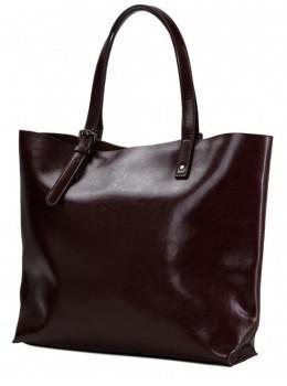 Коричневая кожаная сумка большого размера Grays GR-2011B