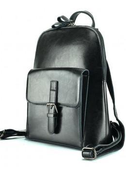 Чорна шкіряна сумка-рюкзак Grays GR-830A