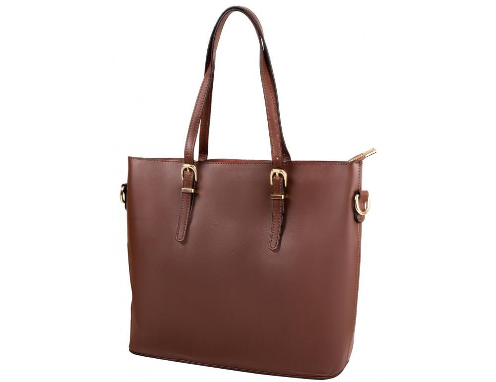 Женская кожаная сумка Grays GR3-173BR коричневый - Фото № 2