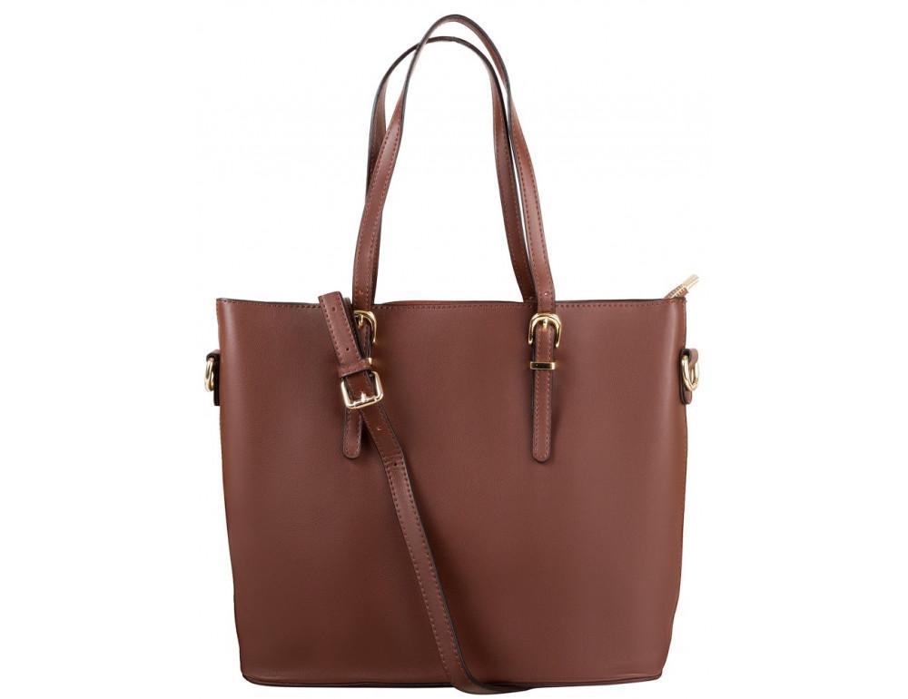 Женская кожаная сумка Grays GR3-173BR коричневый
