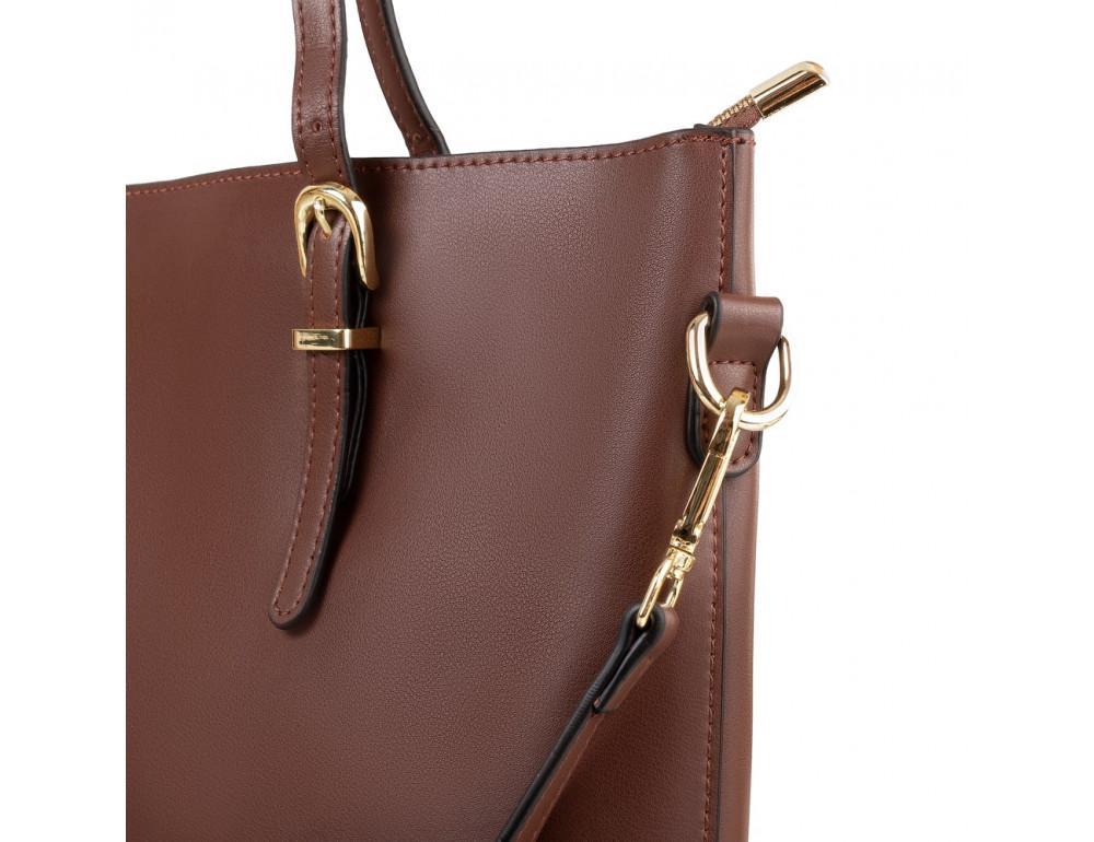 Женская кожаная сумка Grays GR3-173BR коричневый - Фото № 4