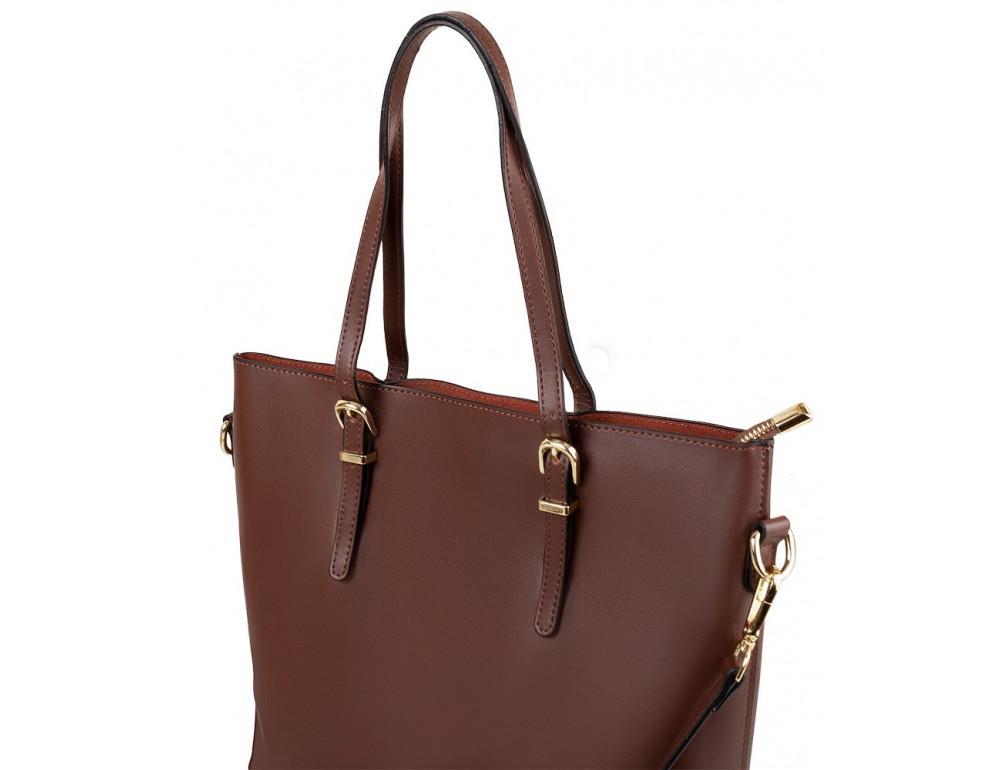 Женская кожаная сумка Grays GR3-173BR коричневый - Фото № 5