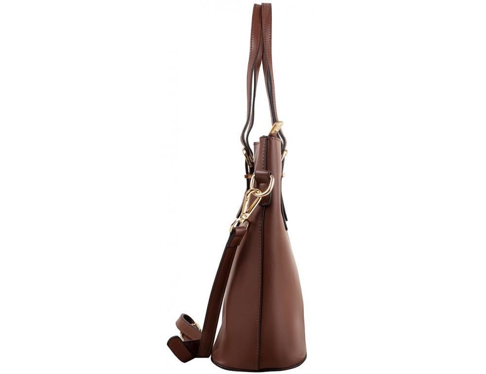 Женская кожаная сумка Grays GR3-173BR коричневый - Фото № 6
