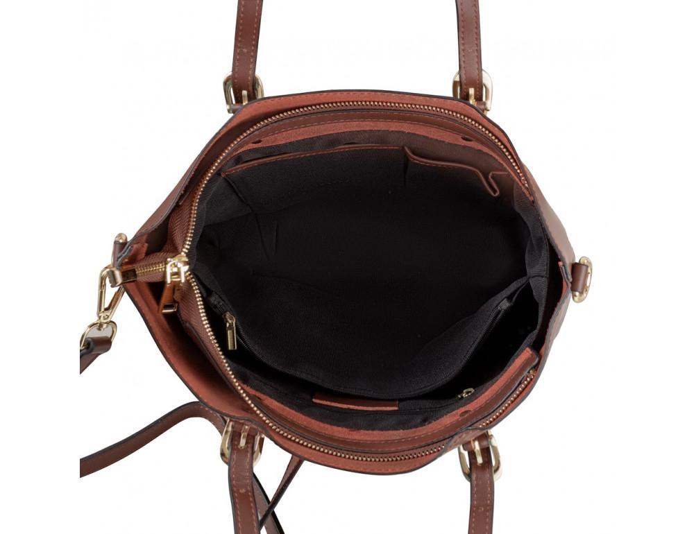 Женская кожаная сумка Grays GR3-173BR коричневый - Фото № 7