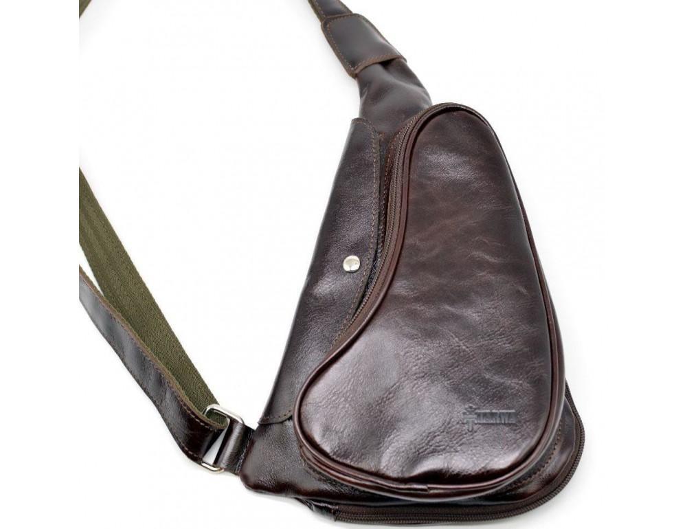 Трендовый кожаный мужской рюкзак на одно плечо TARWA GX-3026-4lx - Фото № 3