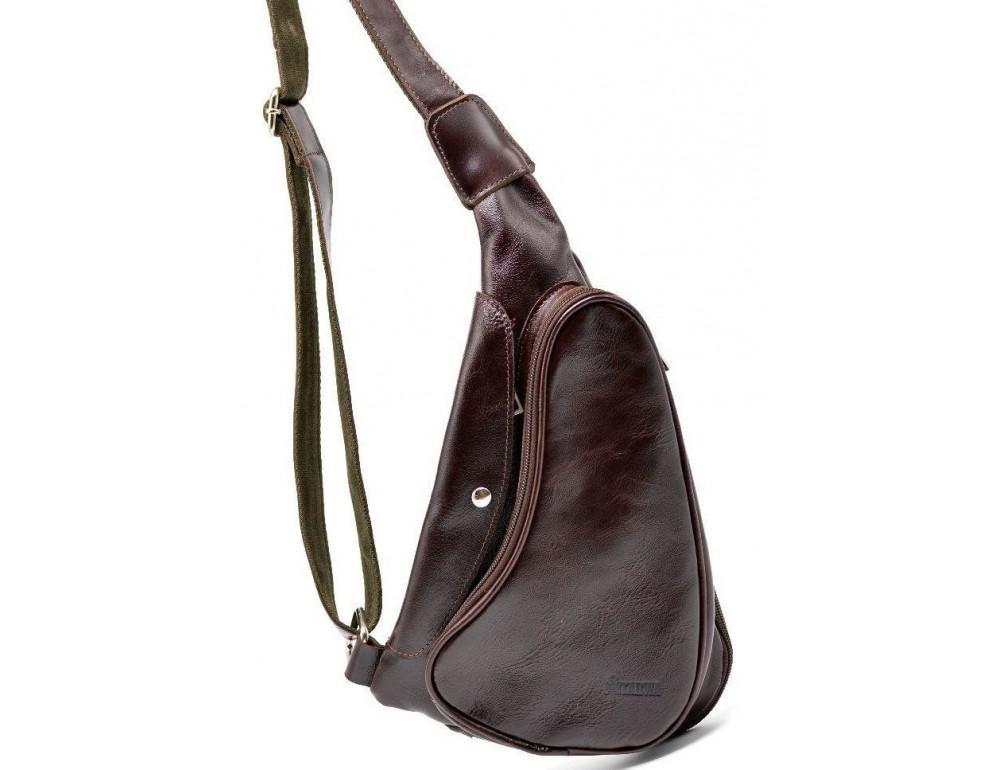 Трендовый кожаный мужской рюкзак на одно плечо TARWA GX-3026-4lx - Фото № 1