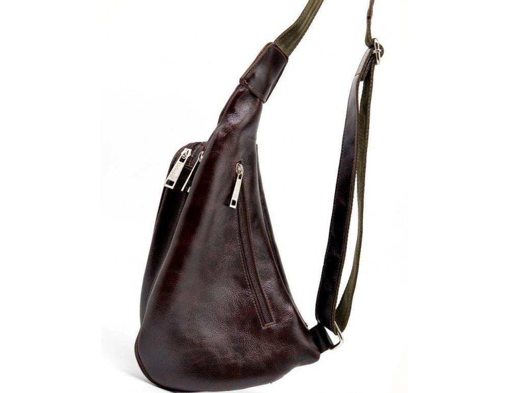 Трендовый кожаный мужской рюкзак на одно плечо TARWA GX-3026-4lx - Фото № 4