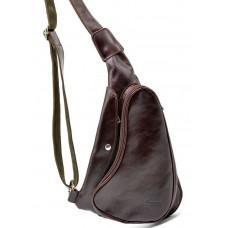 Трендовый кожаный мужской рюкзак на одно плечо TARWA GX-3026-4lx