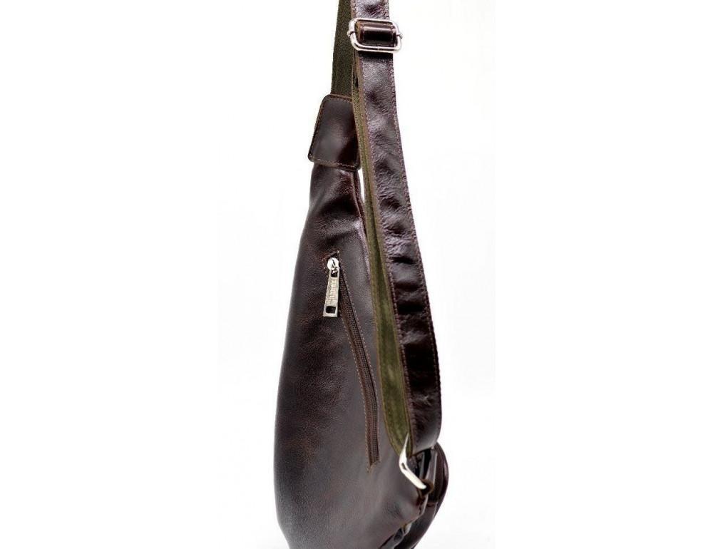 Трендовый кожаный мужской рюкзак на одно плечо TARWA GX-3026-4lx - Фото № 5