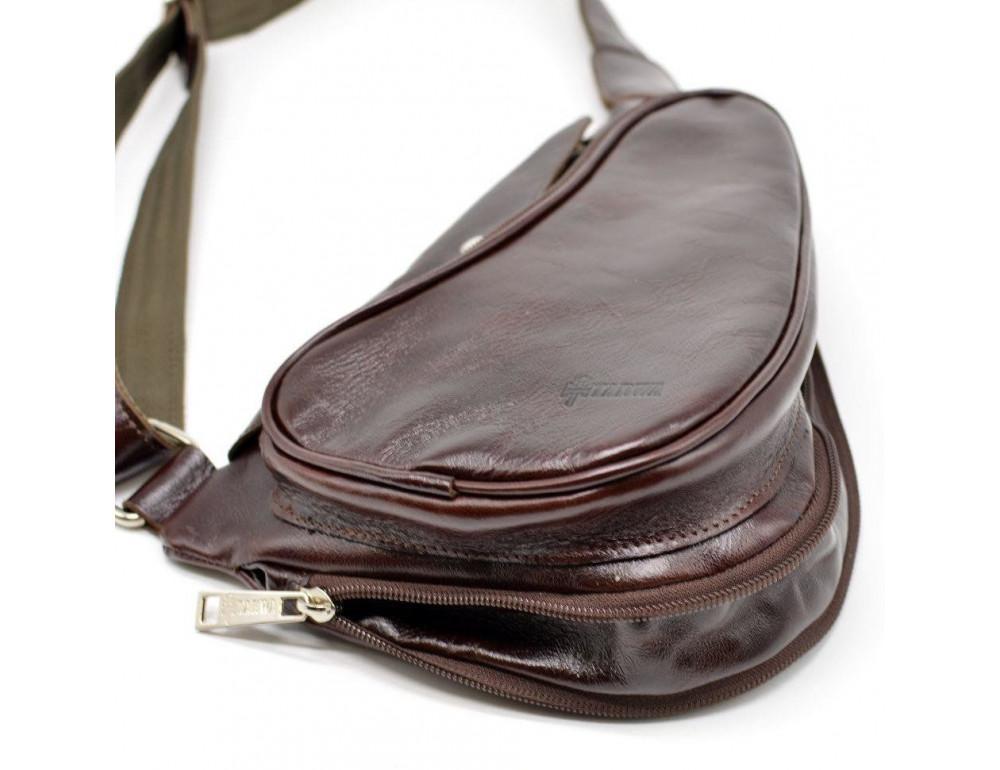 Трендовый кожаный мужской рюкзак на одно плечо TARWA GX-3026-4lx - Фото № 7