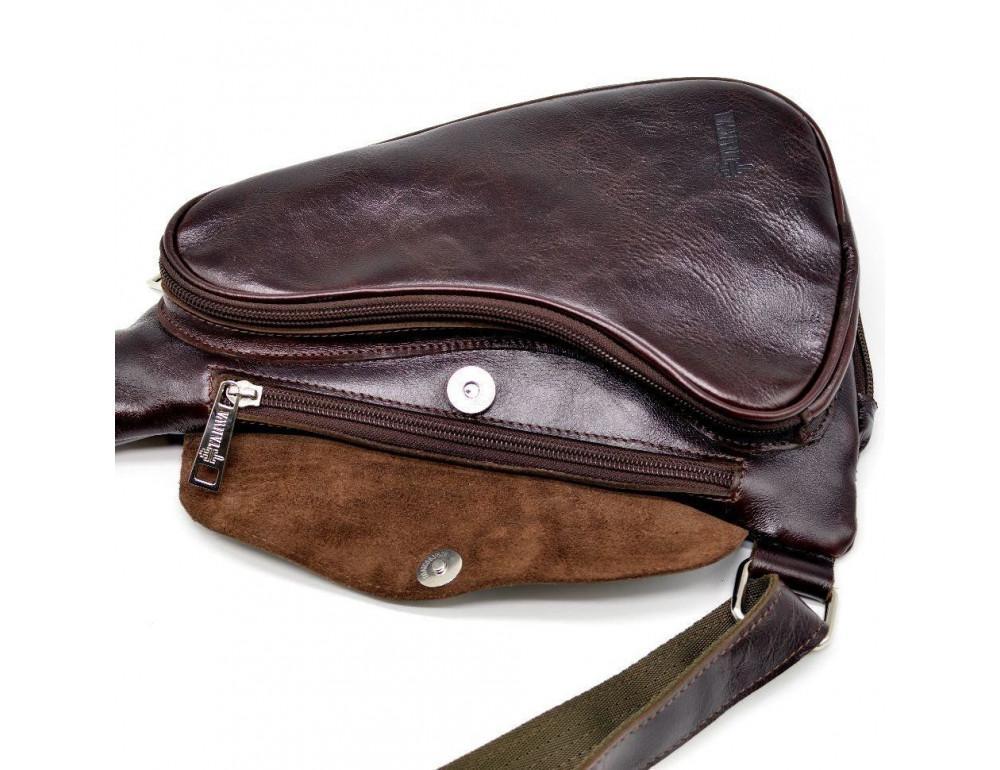 Трендовый кожаный мужской рюкзак на одно плечо TARWA GX-3026-4lx - Фото № 8