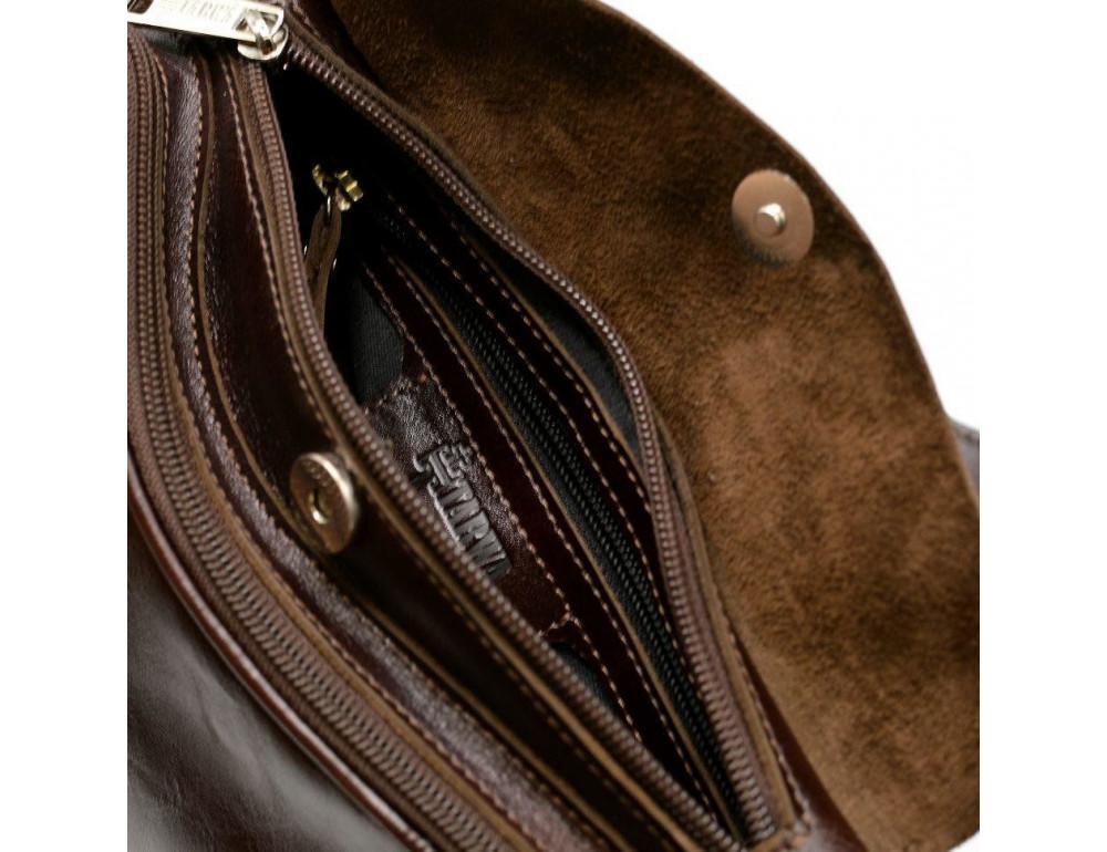 Трендовый кожаный мужской рюкзак на одно плечо TARWA GX-3026-4lx - Фото № 9