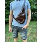 Трендовый кожаный мужской рюкзак на одно плечо TARWA GX-3026-4lx - Фото № 101
