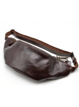 Бордова шкіряна сумка на пояс TARWA GX-3036-4lx