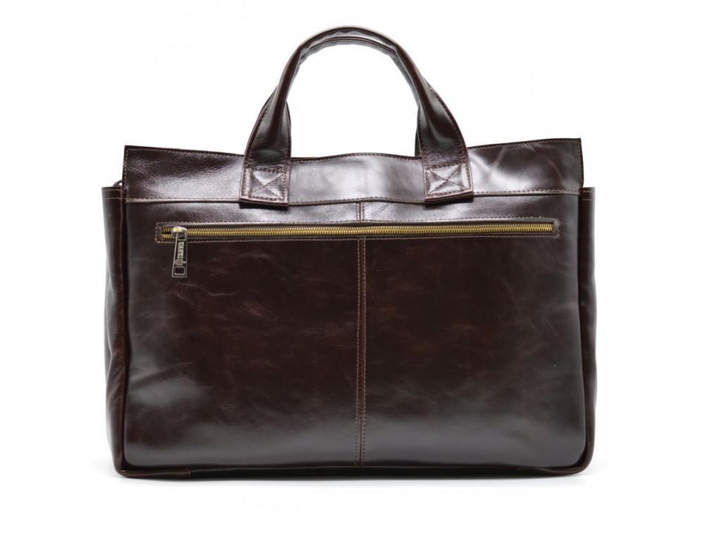 Бордово-коричневый кожаный портфель TARWA GX-7107-3md - Фото № 3