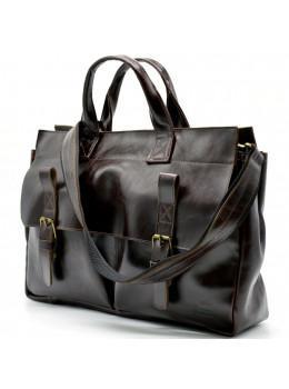 Бордово-коричневый кожаный портфель TARWA GX-7107-3md