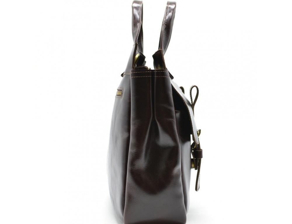 Бордово-коричневый кожаный портфель TARWA GX-7107-3md - Фото № 6