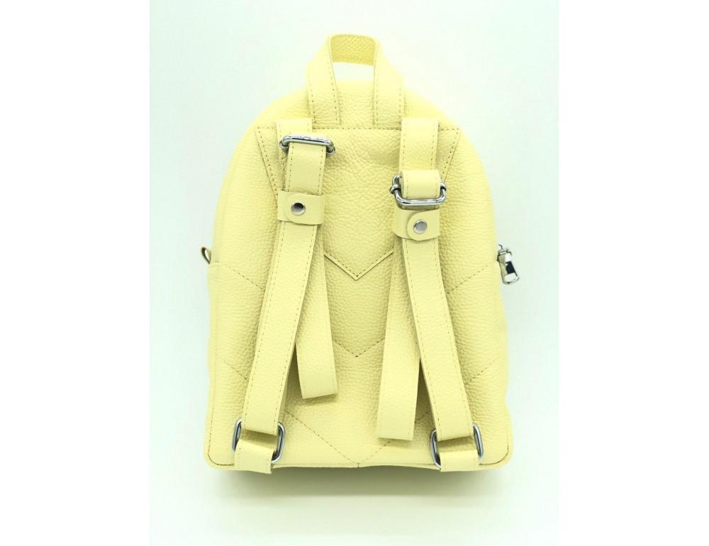 Желтый кожаный рюкзак среднего размера HEART H0001L - Фото № 2