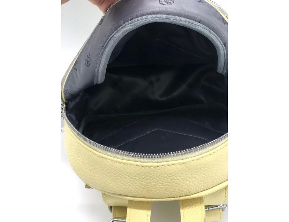 Желтый кожаный рюкзак среднего размера HEART H0001L - Фото № 5