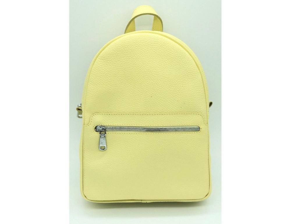 Желтый кожаный рюкзак среднего размера HEART H0001L - Фото № 1