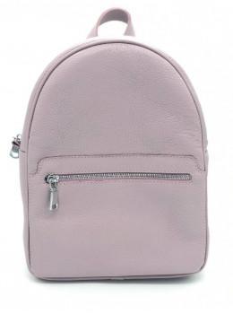 Розово-пудровый кожаный рюкзак HEART H0001PR