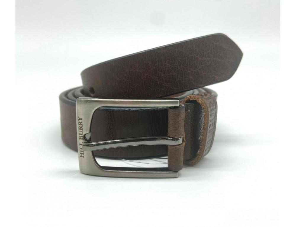 Коричневый кожаный мужской ремень Hill burry HB3044/30brown - Фото № 1