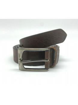 Коричневый кожаный мужской ремень Hill burry HB3044/30brown