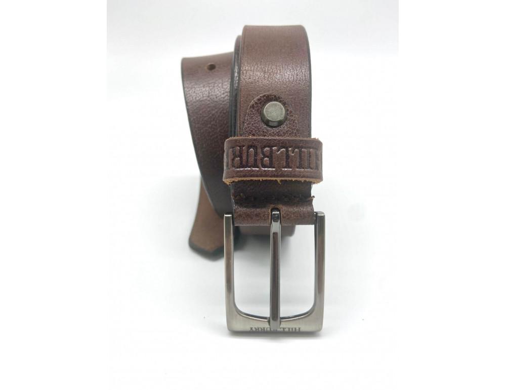 Коричневый кожаный мужской ремень Hill burry HB3044/30brown - Фото № 2