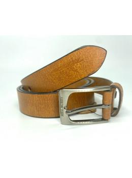 Рыжий кожаный ремень 95 см Hill burry HB3044/30org