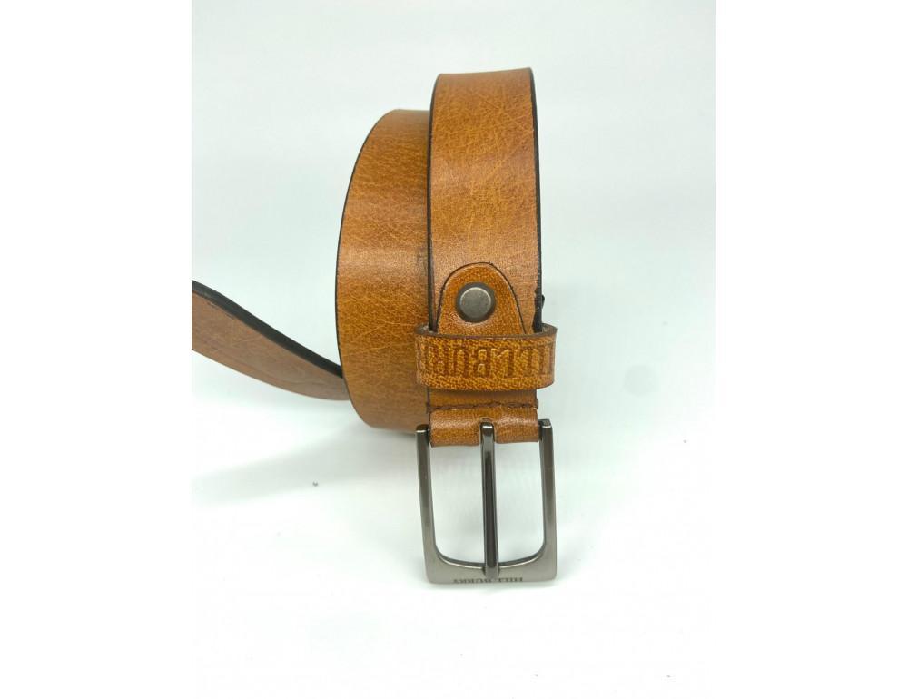 Рыжий кожаный ремень 95 см Hill burry HB3044/30org - Фото № 2