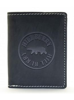 Чёрный кожаный портмоне Hill Burry HB6401A