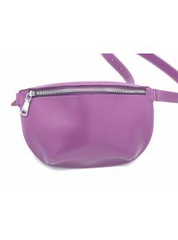Фиолетовая кожаная сумка на пояс HEART HG7701F