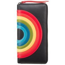 Чёрный женский кошелёк на молнии Visconti HR82 BLK Von c RFID