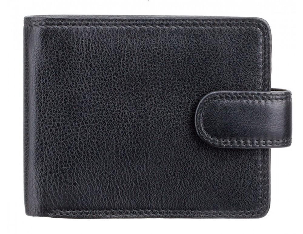 Мужской кожаный кошелек Visconti HT10 BLK чёрный - Фото № 1