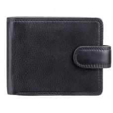 Мужской кожаный кошелек Visconti HT10 BLK чёрный