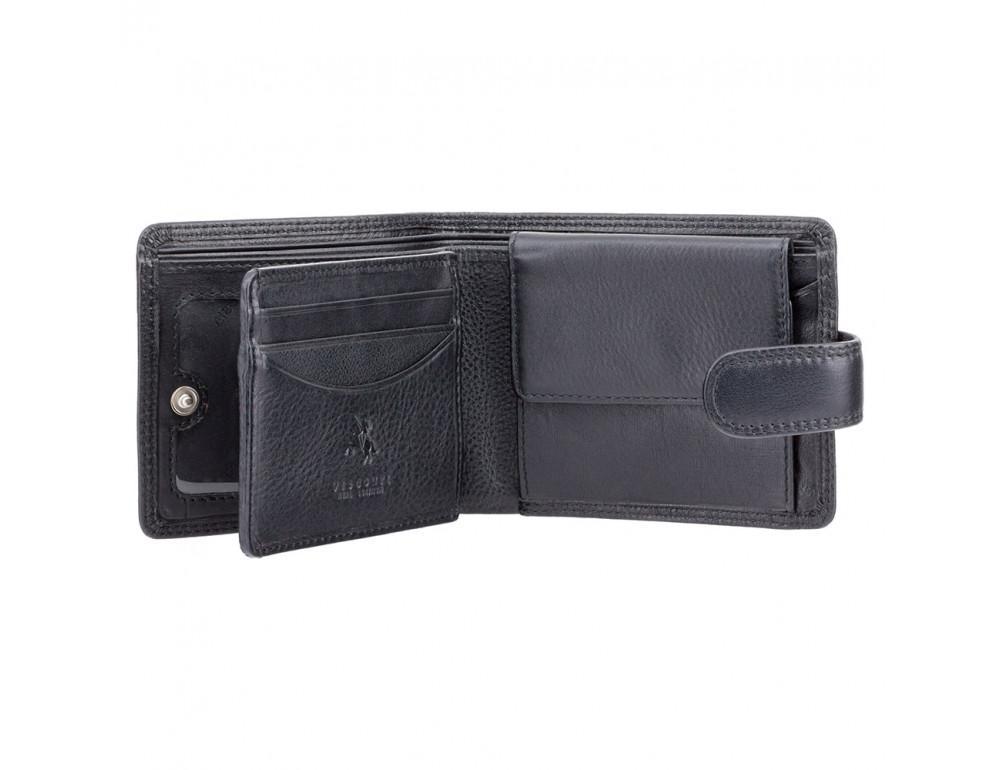 Мужской кожаный кошелек Visconti HT10 BLK чёрный - Фото № 2