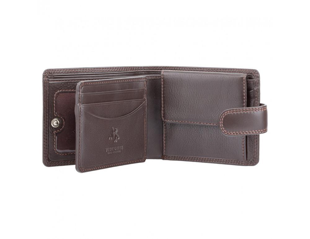 Мужской кожаный кошелек Visconti HT10 CHOC тёмно-коричневый - Фото № 2