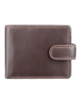 Мужской кожаный кошелек Visconti HT10 CHOC тёмно-коричневый