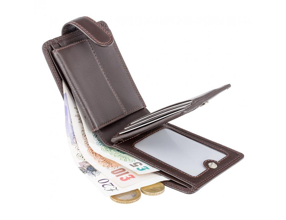 Мужской кожаный кошелек Visconti HT10 CHOC тёмно-коричневый - Фото № 4
