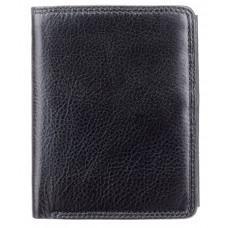 Чёрный мужской кошелек небольших размеров Visconti HT11 BLK