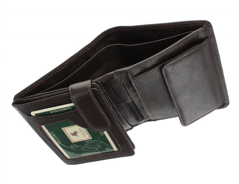 Мужской кошелек Visconti HT11 CHOC коричневый - Фото № 5