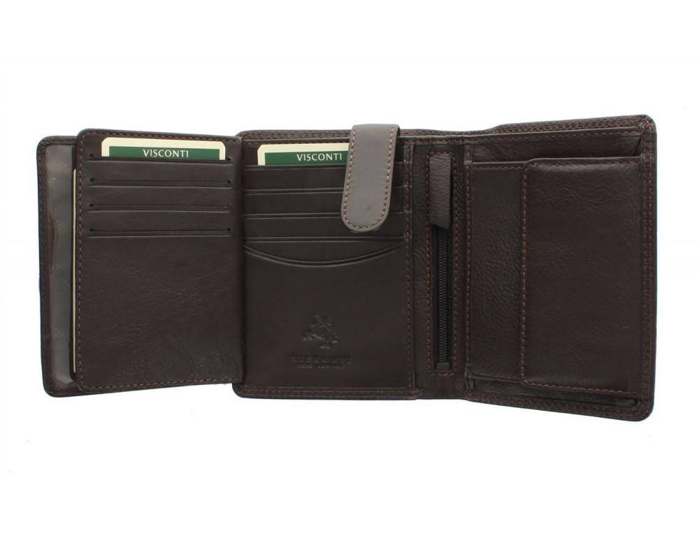 Мужской кошелек Visconti HT11 CHOC коричневый - Фото № 8