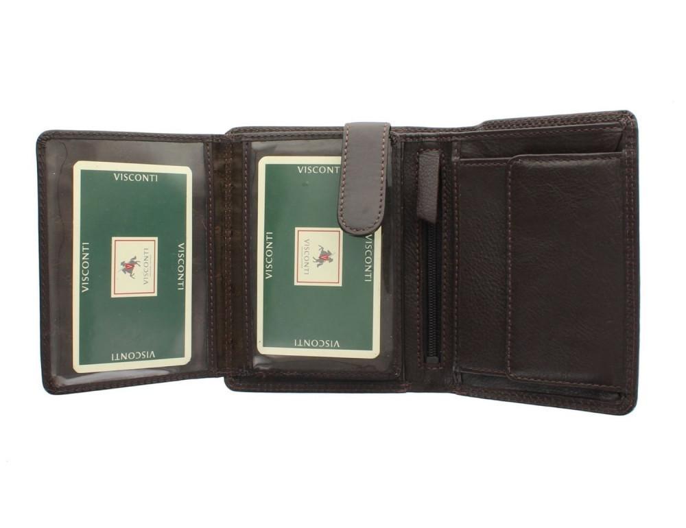 Мужской кошелек Visconti HT11 CHOC коричневый - Фото № 9